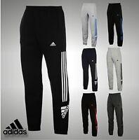 Mens Branded Adidas Three Stripe Logo Fleece Pants Jogging Bottoms Size S-XXL