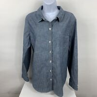 Old Navy Shirt Women's Size XL Chambray Blue Button Down Business Casual