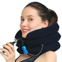1 One Size Blue Foldable Air Neck Traction & Travel Pillow Unisex Christmas Gift