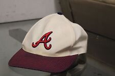 Atlanta Braves Baseball White / Burgundy VINTAGE HAT CAP Strapback