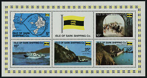 Isle of Sark Shipping Co m/s MNH Ships, Map, Flag, Horse