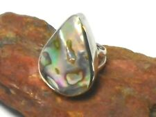 ABALONE  Sterling  Silver 925  Gemstone  RING  -  Size: K