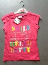 Vêtements rose coton mélangé à manches courtes pour fille de 2 à 16 ans