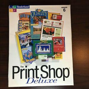Broderbund The Print Shop Deluxe Version 6 (1998, Windows 95/98) 8 CD Set