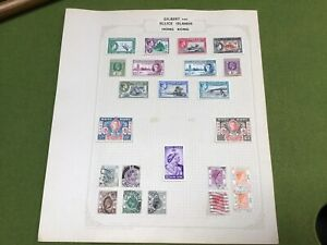 GILBERT & ELLICE ISLANDS STAMPS GV1 Used and Unused Page From Old Stamp Album