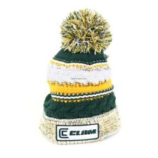 *NEW Ice Armor Clam Green/Gold Pom Ice Fishing Hat 10960