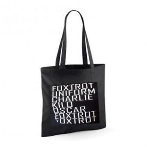 F**K OFF Cotton Tote Bag Shopper Present Novelty Joke Funny Police Phonetic Rude