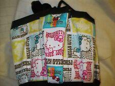 HELLO KITTY  ''PEACE AND LOVE''  PRINT  CLOTH BINGO BAG HANDMADE