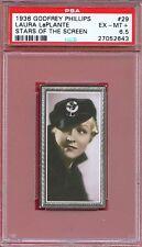 1936 Stars of the Screen Card #29 LAURA LaPLANTE Lover ARIZONA Actress PSA 6.5