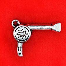 4 X Plata Tibetana Girly secador de cabello Encanto Colgante encontrar abalorios que