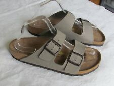 NEW Birkenstock Arizona Ladies Grey Nubuck Mules Sandals UK Size 7.5 EU 41