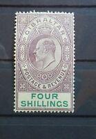 Gibraltar 1908 King Edward VII green 4s Sc 61 Sg 63 MH
