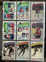 1976-77 O-Pee-Chee Hockey Card Singles OPC #1-199 U-Pick finish your set NrMT-MT