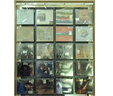 Espositore trasparente da parete per 20 CD negozio vetrina collezione