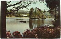 Callaway Gardens Pine Mountain Georgia GA Lake Flowers Boat Vintage Postcard