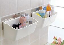 Removable Kitchen Walling Rack Plastic Storage Holder Suction Cup Wall Shelves
