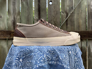 Vintage Jack Purcell Converse Shoes Men's 8 Canvas Leather Made In USA