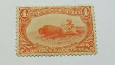US SCOTT  287-1898 4 CENT TRANS MISS. ISSUE-ORANGE-MINT/NOT HINGED/NO GUM-CV$200