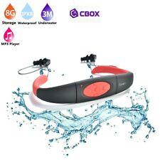 Lecteur MP3 8 Go étanche waterproof à 3 mètres + Radio FM couleur Rouge