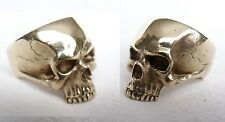 Totenkopf Herrenring Messing Memento Mori Ring Skull