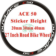 ACE C50 Carbon Bicycle Bike Wheel Stickers REPLACEMENT DURA RIM DECALS FOR 2RIMS