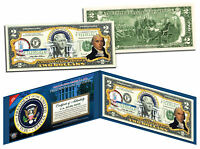 JAMES MADISON * 4th U.S. President * Colorized $2 Bill US Genuine Legal Tender