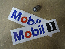 "MOBIL 1 Stickers (PAIR) 8"" Motorcycle Bike Race Racing Classic Car Oil MOBIL1"