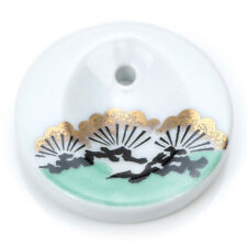 Hanga Pine Porcelain Japanese Incense Stick Holder Burner from Kousaido