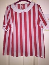 Atmosphere Size 16 Red & White Striped Blouse Top