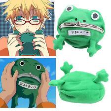 1pc Cartoon Frog Coin Purse Wallet Anime Manga Shape Fluff Clutch Cosplay Green