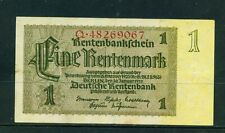 GERMANY - 1937 1 Rentenmark Circulated Banknote