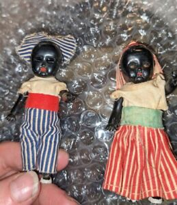 Item #335  Two African American DOLLS from the 1940's to 50's.  Vintage