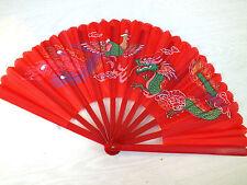 Giapponese rosso XL DRAGON PHOENIX Arti Marziali Tai Chi Kung Fu VENTAGLIO CINESE R8