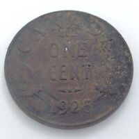 1925 Canada One 1 Cent Penny Circulated George V Canada Coin K921