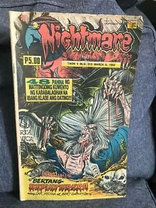 Nightmare Komiks 48 pages Blg 215 Mar 6,1992  (Rare Vintage Pinoy Comics)