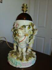 SITZENDORF Exquisite late 19th C  Cherub Porcelain Rose Bowl Centrepiece/lamp