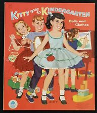 Kitty Goes to Kindergarten Dolls and Clothes Uncut Paper Doll Book - 1956