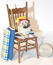 Dollhouse Miniature Sewing Chair Scene F 1:12 one inch scale H144 Dollys Gallery