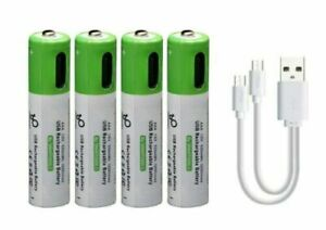 AAA or AA Battery Rechargeable Type-C Lithium-Ion Li-Ion 1.5v 2600mAh Usb