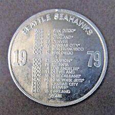 1979 SEATTLE SEAHAWKS NFL Football Schedule Coin Pinch Scotch SPINNER Token