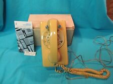Mustard Yellow Rotelcom Rotary Dial Wall Telephone For Repair