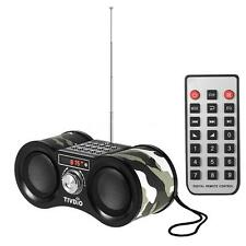 New FM Stereo Radio Mini Digital Speaker MP3 Player with Remote Control AUX I9B6
