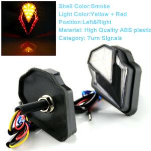 12V Universal LED Corner Light Yellow + Red Turn Signal Lamp Turn Signal Lights