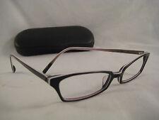 VANNI Occhiali Rx Eyeglasses Black Gray White Striped Plastic Rim Frame +Case