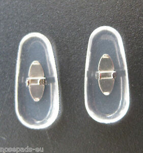 2 Paar/pair 17 mm Clip-on PVC nose pads Nasenstege Silver for Ray Ban frames