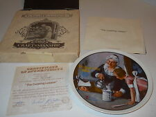 """1982 Knowles Brad Exch - Norman Rockwell 8"""" Plate Mother's Day Cooking Lesson"""
