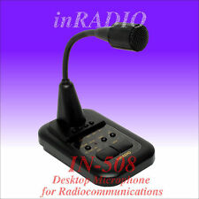 INRADIO IN-508 - TOP MICROPHONE with AMPLIFIER for ICOM KENWOOD YAESU ALINCO