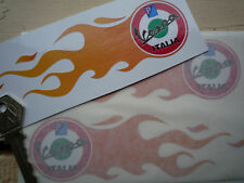 VESPA ITALIA roundel FLAMES Handed pair SCOOTER sticker