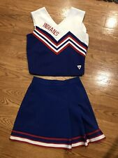 Youth Indians Cheerleading Costume Red White Blue Varsity Waist 24 Bust 32