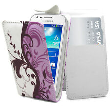 New Stylish Lilac Flip Pouch PU Leather Cover For Samsung Galaxy S5 mini SM-G800